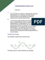 Las funciones trigonométricas inversas y sus derivadas