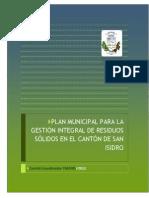 PGIRS MUNICIPALIDAD DE SAN ISIDRO DE HEREDIA, 2012