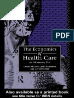 Economics of Health Care - Book