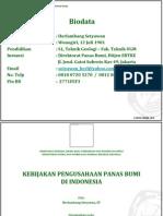 Geothermal (Panas Bumi) Indonesia