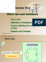 Section 15.3 Ohm's Law and Resistance