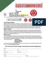 Tuscarora 2014 Commissioner College Registration