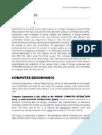 Ergonomics project
