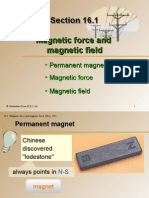 Section 16.1 Magnetic Force and Magnetic Field