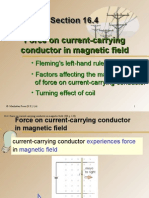 Section 16.4 Force on Current-carrying Conductor in Magnetic Field