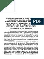 PEREIRA, Magnus. Plano para Sustentar a Posse na Parte Meridional da América Portuguesa (1772)