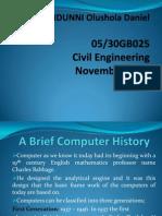 A Brief Computer History