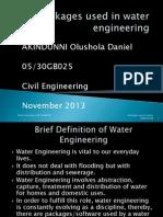 Packages Used in Water Engineering