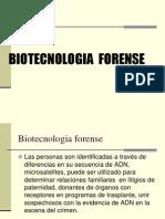 Biotecnologia Forense Primera Parte