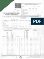 Frostig Formato de Registro