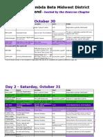 Updated District Banquet Agenda