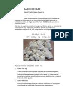 TIPOS Y CLASIFICACIÓN DE CALES