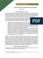 Clasificación de la Ciencia (Eduardo Lazo)