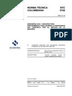 NTC 3756 Procedimiento para Estimar la Resistencia del Concreto por el Método de la Madurez