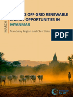 Scoping Off-Grid Renewable Energy Opportunities in Myanmar