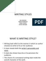 writting styles