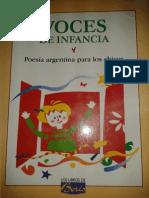 Voces de la infancia, poesía argentina para los chicos - Ed. Colihue, 2007