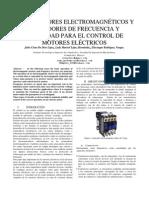 ARRANCADORES ELECTROMAGNÉTICOS Y VARIADORES DE FRECUENCIA Y VELOCIDAD PARA EL CONTROL DE MOTORES ELÉCTRICOS