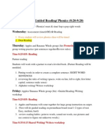 scope and sequence weekly agenda