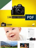 Brosuur Nikon 3200