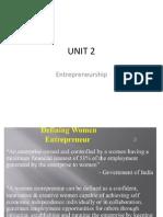 UNIT 2 Entrepreneurship MBA