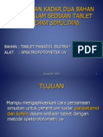 PPT Penentuan Kadar 2 Bahan Obat Dlam Sediaan Tablet