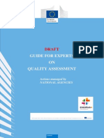 Draft Guide for Experts on Quality Assessment 1