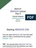 Ae4131 Abaqus Lecture 5