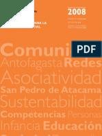 Reporte de Sustentabilidad Fundacion Minera Escondida 2008