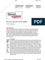 (WAM) the Jesus Narrative in the Talmud - Student Gil