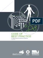 Code of Best Practice for Reporting by Life Science Companies