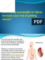 Does Being Overweight or Obese Increase Your Risk of Getting Cancer
