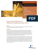 Practical Food Applications of Differential Scanning Calorimetry (Dsc)