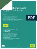 PTV Myki Free Weekend Travel Updated