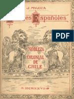 Chile, Nobleza Colonial, El Linajes de los Españoles