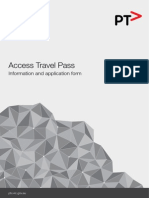 Access Travel Pass App Form May 2013