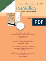 Humanika Vol 1 No 1 2013