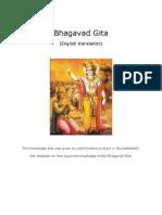 Bhagavad Gita (English)