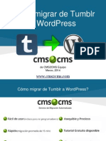 Cómo migrar de Tumblr a WordPress con CMS2CMS