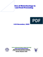 Application of Biotechnology in Dairy and Food Processing 2003