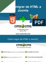 Cómo migrar de HTML a Joomla con CMS2CMS