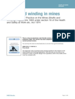 UK Code Of Practice Shafts and Winding
