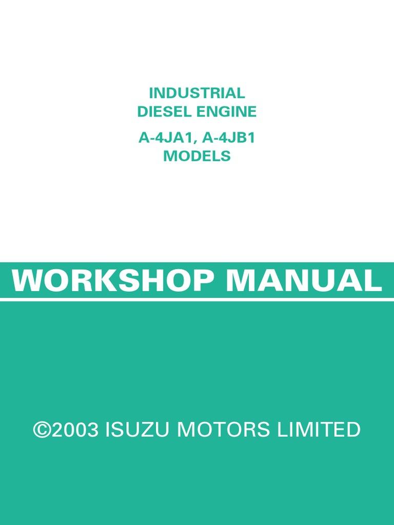 isuzu diesel engine 4ja1 and 4jb1 cylinder engine piston rh es scribd com 2002 Isuzu Trooper isuzu 4ja1 workshop manual download