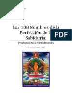 Sutra Los 108 Nombres de la Perfección de la Sabiduría