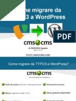 Come migrare da TYPO3 a WordPress