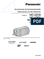 Manual Videocamara Panasonic Hcvhd 201
