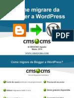 Come migrare da Blogger a WordPress