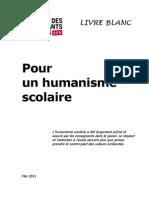 Le Livre Blanc Pour un humanisme scolaire