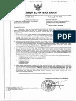 Surat Edaran Gubernur Sumatera Barat Tentang Penggunaan Dana BOK Untuk Pemicuan STBM Dan Pengambilan Data EHRA Kementerian Kesehatan