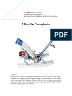 2 Row Rice Transplanter